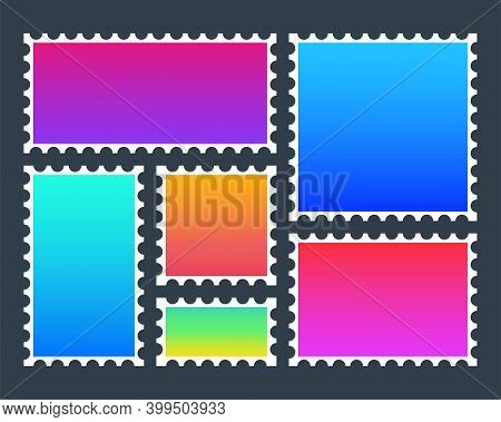 Modern Colorful Postage Stamp, Great Design For Any Purposes. Vector Icon.