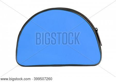 BlueTravelling Toiletries Bag on White Background