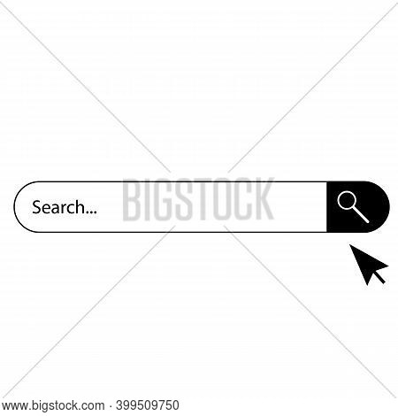 Search Bar Icon On White Background. Flat Style. Search Bar Icon For Your Web Site Design, Logo, App