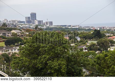 A View Of Suburbia With Sea In The Distance In Umhlanga, Kwazulu-natal