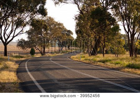 Winding Road North Of Canberra, Australia