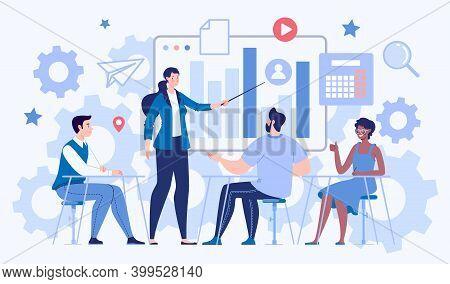 Courses, Training, Leadership Development. Business Concept. Teamwork, Collaboration, Partnership, C