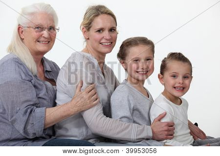 young and older female foursome