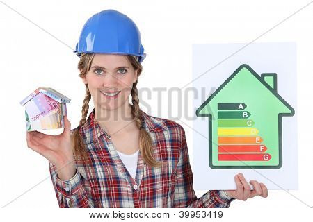 female heating engineer