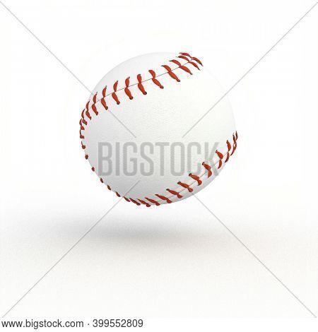 classic baseball ball on white. team sport concept. 3d render