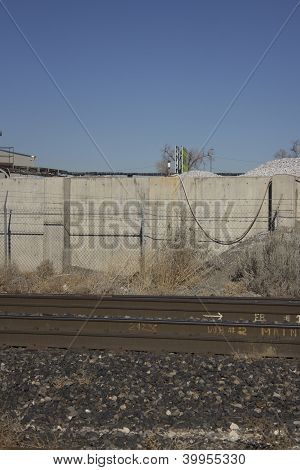 Bad part of town down byy the train tracks.