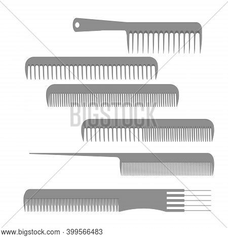 Hairdressing Combs Set, Tools For Combing Hair, Styling And Haircut Help, Comb With Different Length