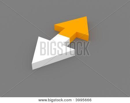 3D Opposite Arrows