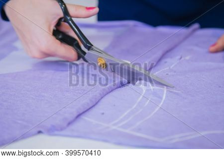 Tailoring, Hobby, Fashion, Clothing Repair And Dressmaking Concept. Professional Dressmaker, Seamstr