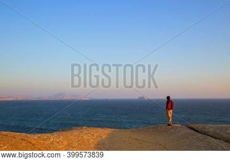 Deserted coastline landscapes in Pacific ocean, Peru, South America