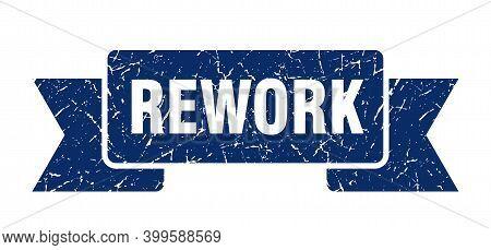 Rework Grunge Vintage Retro Band. Rework Ribbon