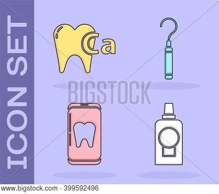 Set Mouthwash Plastic Bottle, Calcium For Tooth, Online Dental Care And Dental Explorer Scaler For T