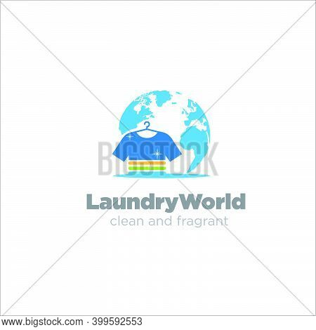 Laundry World Association Logo Designs Simple Modern Fast And Clean