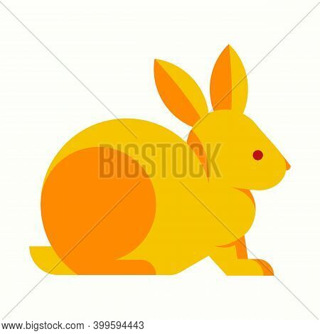 Yellow Rabbit Vector Illustration Isolated On White Background From Animal And Nature Collection. Tr