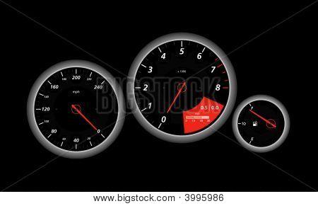 Speedometer, Red