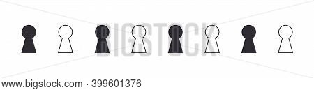 Keyhole Icons. Lock Icon. Keyhole Vector Icons Isolated On White Background. Vector Illustration