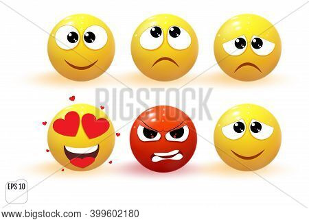 Emoji Objects Icons. Emoticon Icons. Cartoon Emoji Set. Vector Emoticon Set
