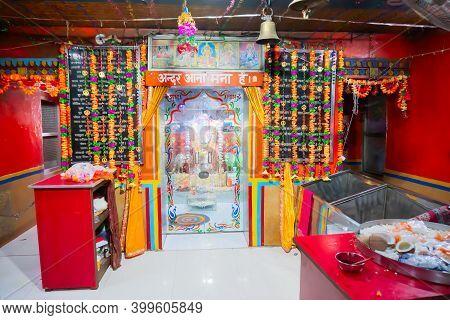 Jaisalmer, Rajasthan, India - 15th October 2019 : Famous Goddess Tanot At Tanot Mata Mandir At India