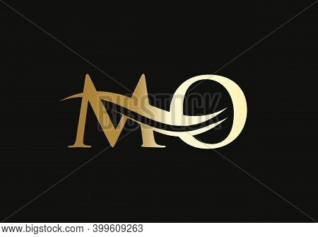 Mo Letter Logo Design For Business And Company Identity. Creative Mo Letter With Luxury Concept. Wat