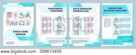 Child Care Center Brochure Template. Passionate Teachers, Curriculum. Flyer, Booklet, Leaflet Print,