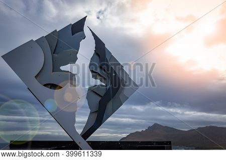 The Cape Horn Memorial Sculpture On Cape Horn Island, The Southernmost Point Of South America In Chi