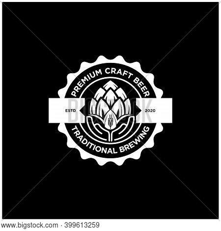 Hops Craft Beer Ale Brewery Logo Design Inspiration