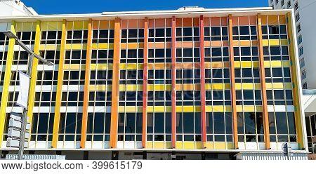 Tel Aviv, Israel - March 09, 2019 : Rainbow Building On The Gordon Promenade. Dan Hotel, Designed By