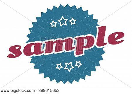 Sample Sign. Sample Round Vintage Retro Label. Sample