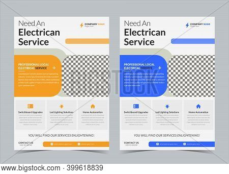 Electrician Flyer, Electrician Service Promotion, Electrician Contractor