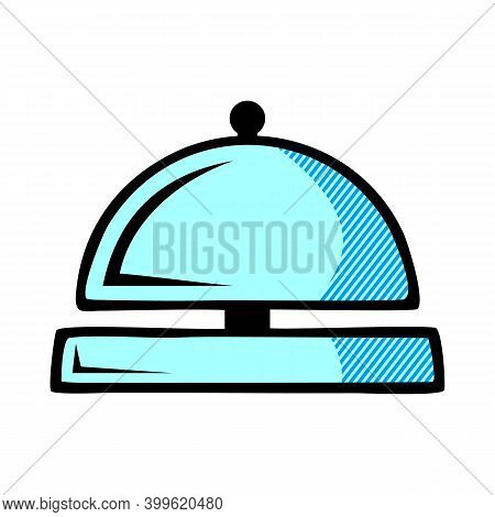 Hotel Bell Icon Isolated On White Background From Travelling Collection. Hotel Bell Icon Trendy And