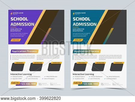 School Admission Flyer, Back To School Promotion, Kid School Ad