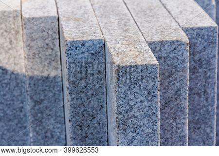 Granite Slabs Close Up. Granite Texture. Granite Countertop Slabs. Material For Decorative Wall And