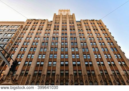 Los Angeles, California - August 26, 2020: Ace Hotel Downtown Los Angeles Containing The United Arti