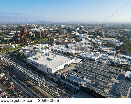 Aerial View Of Utc Westfield Shopping Mall, Large Commercial Center In University City District Next