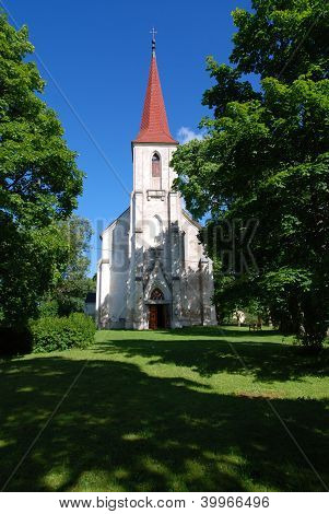 Old cothic church in countryside of Saaremaa island, Estonia poster
