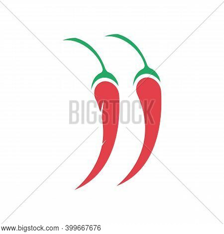 Chili Hot Symbol And Logo Vector Icon