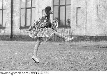 Energetic And Casual Atmosphere. Energetic Child March Outdoors. Energetic Mood. Summer Vacation. Le