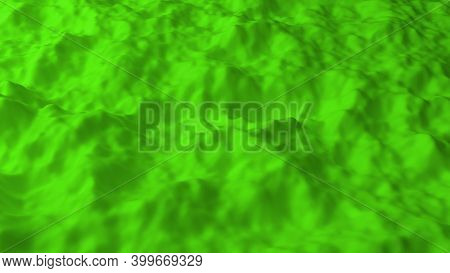 Abstract Background With Green Noise Field. Abstract Landscape Mountain Surface. Detailed Displaced