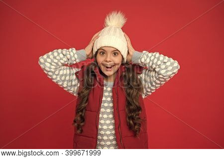 Winter Fashion. Childhood Happiness. Positive Concept. Winter Accessories. Good Mood. Emotional Well