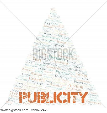 Publicity Typography Word Cloud Create With Text Only