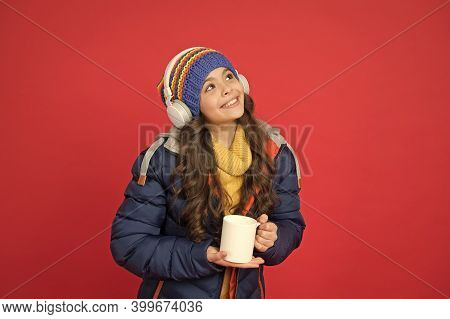 Listening Music And Drinking Cocoa. Music Taste. Weekend Begins Like That. Hipster Fashion Trend. Wi