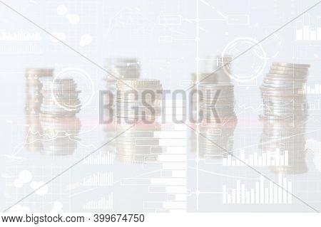 Business Modern Technology. Bi Business Intelligence Concept On Virtual Screen.