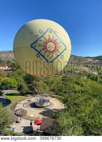 Hot Air Balloon Attraction Inside San Diego Safari Park Zoo In San Diego, One Of The Largest Tourist