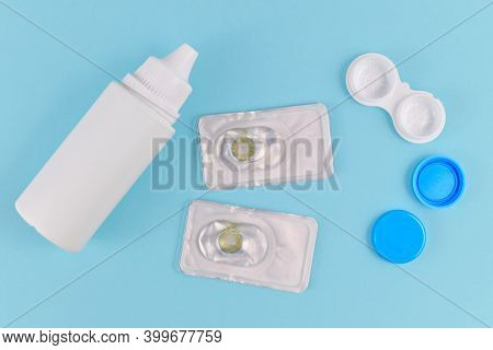 Packs With Hazel Colored Circle Lenses, A Type Of Contact Lenses To Enlarge Eyes And Change Eye Colo