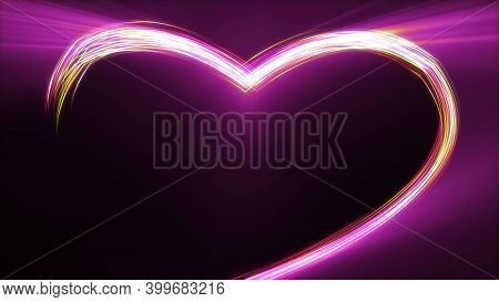 Colorful Heart With Nice Glowing Light, Sign And Symbol Of Love , At The Touch Of Love Everyone Beco
