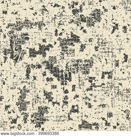 Abstract Seamless Pattern With Unreadable Handwritten Text Lorem Ipsum And Stains On The Old Paper B
