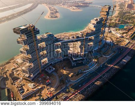 Dubai, United Arab Emirates - December 1, 2020: The Royal Atlantis Resort And Residences Under Const