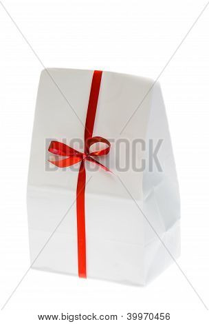 White Box With Red Bow.