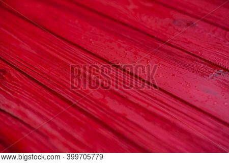 Red Painted Wood. Painted Old Wooden Wall. Wood Red Plank Background