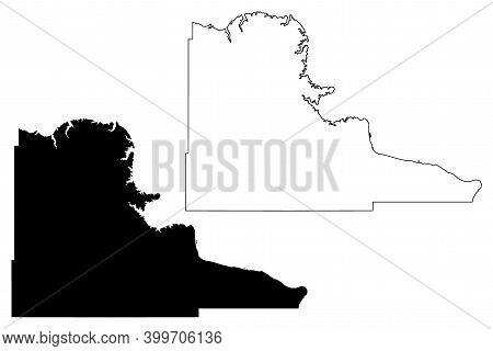 Stanley County, State Of South Dakota (u.s. County, United States Of America, Usa, U.s., Us) Map Vec